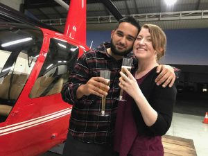 helicopter wedding proposal flight